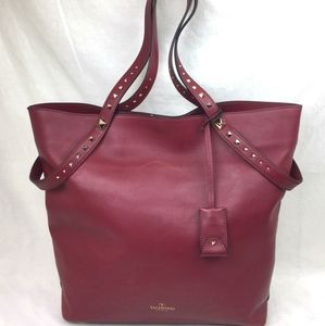 VALENTINO Lovestud Leather Tote